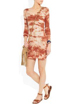 Isabel Marant tie dye jersey knit dress red orange white  | eBay