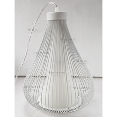 $120.00 / piece Fixture Width: 33 cm (13 inch) Fixture Length : 33 cm (13 inch) Fixture Height:48 cm (19 inch) Chain/Cord Length : 50 cm (20 inch) Color : white Materials:metal,glass