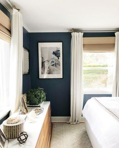 What You Need to Do About Dark Accent Walls Bedroom - Wall Treatments - Dark Accent Walls, Accent Wall Bedroom, Dark Walls, Home Decor Bedroom, Modern Bedroom, Dark Master Bedroom, Bedroom Ideas, Dark Furniture Bedroom, Serene Bedroom