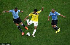 Architect: Colombia's Juan Guillermo Cuadrado (centre) has contributed four assists during...