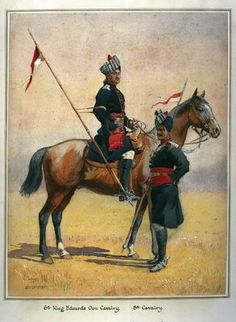 Soldiers of the 6th Edward's Own Cavalry and the 8th Cavalry, illustration for 'Armies of India' by Major G.F. MacMunn, published in 1911, 1908 Wall Art & Canvas Prints by Alfred Crowdy Lovett