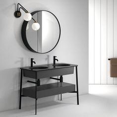 Double washbasin cabinet / ceramic / free-standing / contemporary CATINO DOPPIO by Andrea Parisio Giuseppe Pezzano Ceramica Cielo