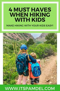 4 must haves when hiking with kids & toddlers to make the trip so much easier! Including the best toddler carrier for hiking & kid hydration packs!