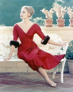 I don't tend to wear red, but this makes me want to wear red and lounge elegantly on chaises on open patios in the south of France.