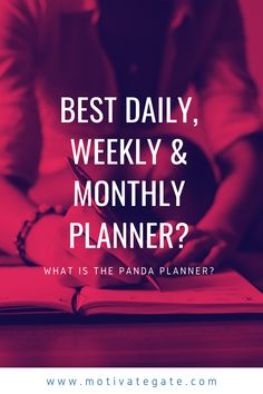 Planning a new day is essential in making that day as productive as possible.  When you leave your day and goals to chance, you give away your control over the situations, and you end up not achieving anything substantial.  Absolutely one of the best tools you can take advantage of is the Panda Planner, which you can use to plan your daily routines and your monthly routine.  This tool is designed to push you towards making better life choices and encourage you when you feel like giving up. Weekly Monthly Planner, When You Leave, Feel Like Giving Up, Daily Routines, Life Choices, Better Life, Panda, Encouragement, How Are You Feeling