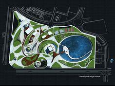 Floriculture And Landscape Gardening Ppt Architecture Site Plan, Landscape Architecture Drawing, Landscape Design Plans, Concept Architecture, Urban Landscape, Resort Plan, Public Space Design, Collage Illustration, Urban Planning
