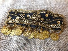 Hand-Beaded Coin Arm Cuff for Bohemian Belly Dance Costume. $16.00, via Etsy. belly dance free spirit india summer festival style