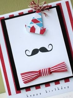 Mustache? :D Check out dat birthday card (;