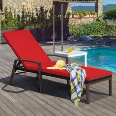 This patio lounge chair combines with the comfort and practicability fitting for backyard well. This chaise chair is made of premium rattan and sturdy steel frame, which can be used for many years. Soft cushion ensure you having a wonderful nap or rest during the leisure time. Besides, the cushion of the patio lounger with zippers is removable for easily cleaning. The chaise lounge chair comes with adjustable back so you can find the comfortable position according to your preference.
