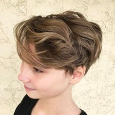 Wavy Pixie Bob For Teenage Girls