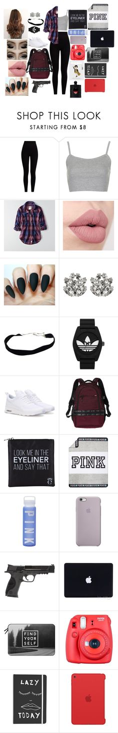 """""""Negans Daughter #7"""" by annaconley ❤ liked on Polyvore featuring Pepper & Mayne, Topshop, American Eagle Outfitters, Dolce&Gabbana, adidas Originals, NIKE, Victoria's Secret, Eyeko, Victoria's Secret PINK and Smith & Wesson"""