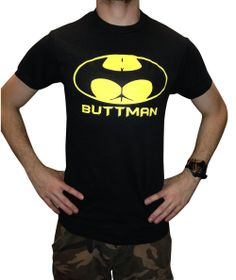 BUTTMAN Funny T-shirt / BLACK / Large / FAST Shipping