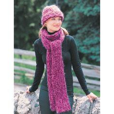 Free Divine Hat & Scarf Knit Pattern - Free Patterns - Books & Patterns