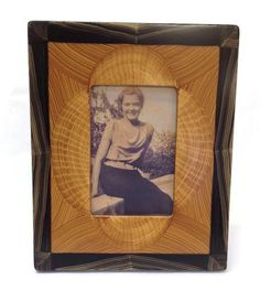 """Grant-Norén - Picture Frame Shown here is one of Grant-Norén's beautifully unique frames. Frame size measures 8 1/2"""" x 10 1/2"""" and holds a 4""""x6"""" photo. Each frame is hand created in their Westtown New"""
