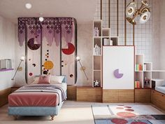 Playground for bedrooms | To achieve an amazing playground, you need amazing furniture! Check out Circu Magical furniture for kids' room: CIRCU.NET
