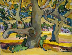 "As Emily Carr experimented with composition, colour, and execution and came into contact with contemporary European art movements, she transformed and developed as a painter. ""Trees in France,"" c. 1911, McMichael Canadian Art Collection."