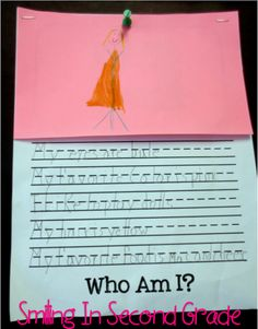 Who Am I? Activity and display for the first week of school. Under the flap there is a picture of the student and their name... Could perhaps even compile these into a class book!
