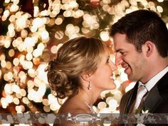 Outside christmas lights are a great backdrop for winter night beauty. Photo by: FRP