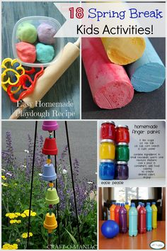 spring break activities for kids www.craft-o-maniac.com