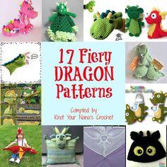 Crochet 17 Fiery Dragon Patterns, http://crochetjewel.com/?p=11553