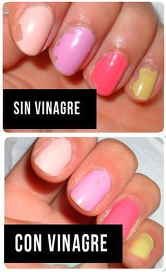 Does Vinegar Really Make Your Manicure Last Longer? Swiping nails with vinegar before applying nail polish helps it last longer. They put it to the testSwiping nails with vinegar before applying nail polish helps it last longer. No Chip Manicure, Manicure At Home, Manicure And Pedicure, No Chip Nails, No Chip Nail Polish, Dry Nail Polish, Glitter Nail Polish, Nail Polish Hacks, Nail Tips