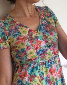 leuk patroon voor tricot jurk, hoge taille, geen gedoe met beleg.