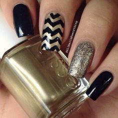 Get ready for some manicure magic as we bring you the hottest nail designs. Elegant Nail Designs, Best Nail Art Designs, Elegant Nails, Beautiful Nail Designs, Nail Polish Art, Acrylic Nail Art, Hot Nails, Hair And Nails, Black Gold Nails