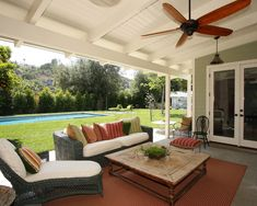 Traditional Porch Addition Of A Covered Stone Floor Back Patio Design, Pictures, Remodel, Decor and Ideas - page 6