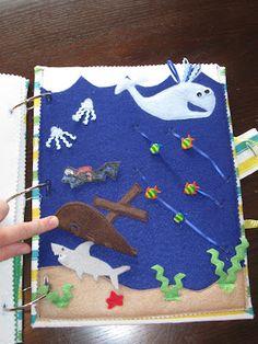 ADORABLE under the sea quiet book page