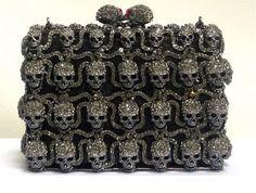 Butler and Wilson Swarovski Crystal Skull Clutch Bag