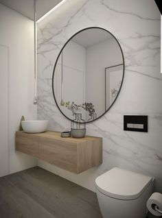 Modern bathroom design 35958497007769719 - The WOW bathroom is easily becoming the Powder Room is the Australian design scene, clients are wanting this bathroom to be a real punch as … Source by fillescolline Bathroom Toilets, Laundry In Bathroom, Small Bathroom, Bathroom Marble, Bathroom Mirrors, Warm Bathroom, Serene Bathroom, Small Sink, Bathroom Cabinets