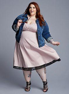 Tess Holliday Spring Look Book Fat Fashion, Big Girl Fashion, Curvy Fashion, Plus Size Fashion, Looks Plus Size, Curvy Plus Size, Plus Size Women, Big Size Dress, Plus Size Dresses