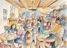 Harry Potter Fan Art Gallery: artdungeon - In the Three Broomsticks