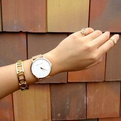Marc Bale Rose Gold Crystal Mesh watch and Roman Empress Bangle from @thepeachbox