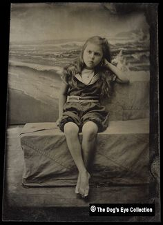 Bathing Beauty:  Tintype c.1890s by The Dogs Eye, via Flickr