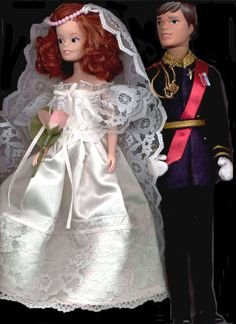 1986 Pedigree Marie & Mark friends of Sindy, these dolls were made to celebrate the wedding of Prince Andrew to Sarah Ferguson.