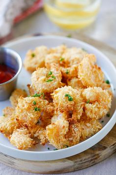 Parmesan Baked Popcorn Shrimp – Easiest and crispiest popcorn shrimp with no deep frying. Easy, healthy, super yummy and everyone loves them | rasamalaysia.com