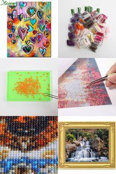 Full Drill Round or Square DIY Diamond Painting Cross Stitch Diamond Mosaic 5D Sets Full Diamond Embroidery Handmade Needlework Love Heart
