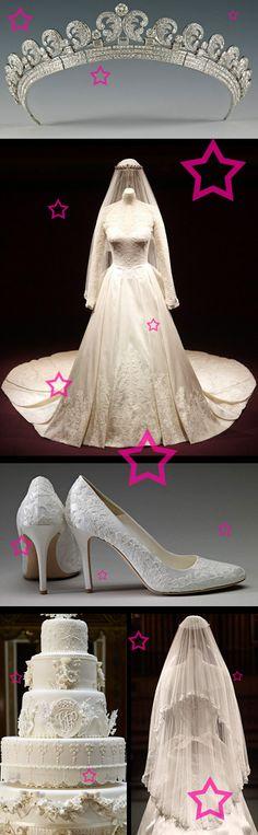 Kate's wedding dress on display