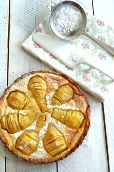 Tarta normanda de peras | El Pastelito Valiente: Tarta normanda de peras