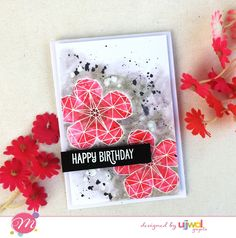 Mudra Craft Stamps: Heat Embossing & Coloring with Distress Inks!