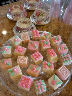 Petit fours for a tea party baby shower    belle maison: Baby Shower Tea Party