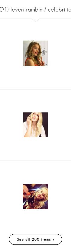 """""""{O1} leven rambin / celebrities"""" by the-asgardian-clipper ❤ liked on Polyvore featuring jewelry"""