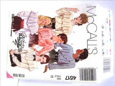 Dressy Romantic Fancy Draped Blouse Pattern, McCalls 4517 Misses Size 10 Modest High Neckline Shoulder Pads Long Sleeves Lace, UNCUT 1980s by RuthsGreenTreasures on Etsy