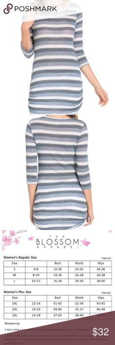 Blue striped cardigan Amazing quality from Blossom pm collection,  light,  perfect for  spring or as a mini dress over the summer Sweaters Cardigans