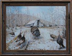 Barnyard Gobblers Framed Art PrintFor $98.99