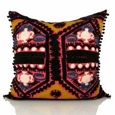 Vintage Esma Turkish Suzani pillow