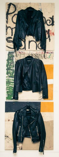 """""""I live in leather."""" http://www.thecoveteur.com/michelle-campbell-jewelry/"""