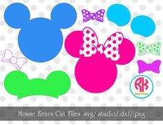 Mouse Ears Big Cut Files .PNG .DXF .Studio .SVG by RKHeatPress