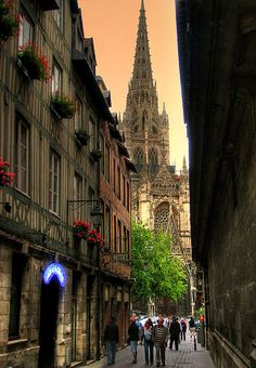 Rouen Cathedral, France. My Allords/Allards were from this city in Normandy.